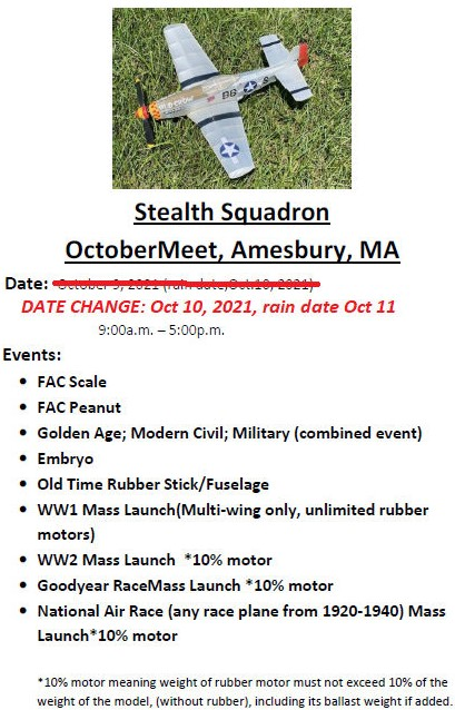 October meet moved to October 10