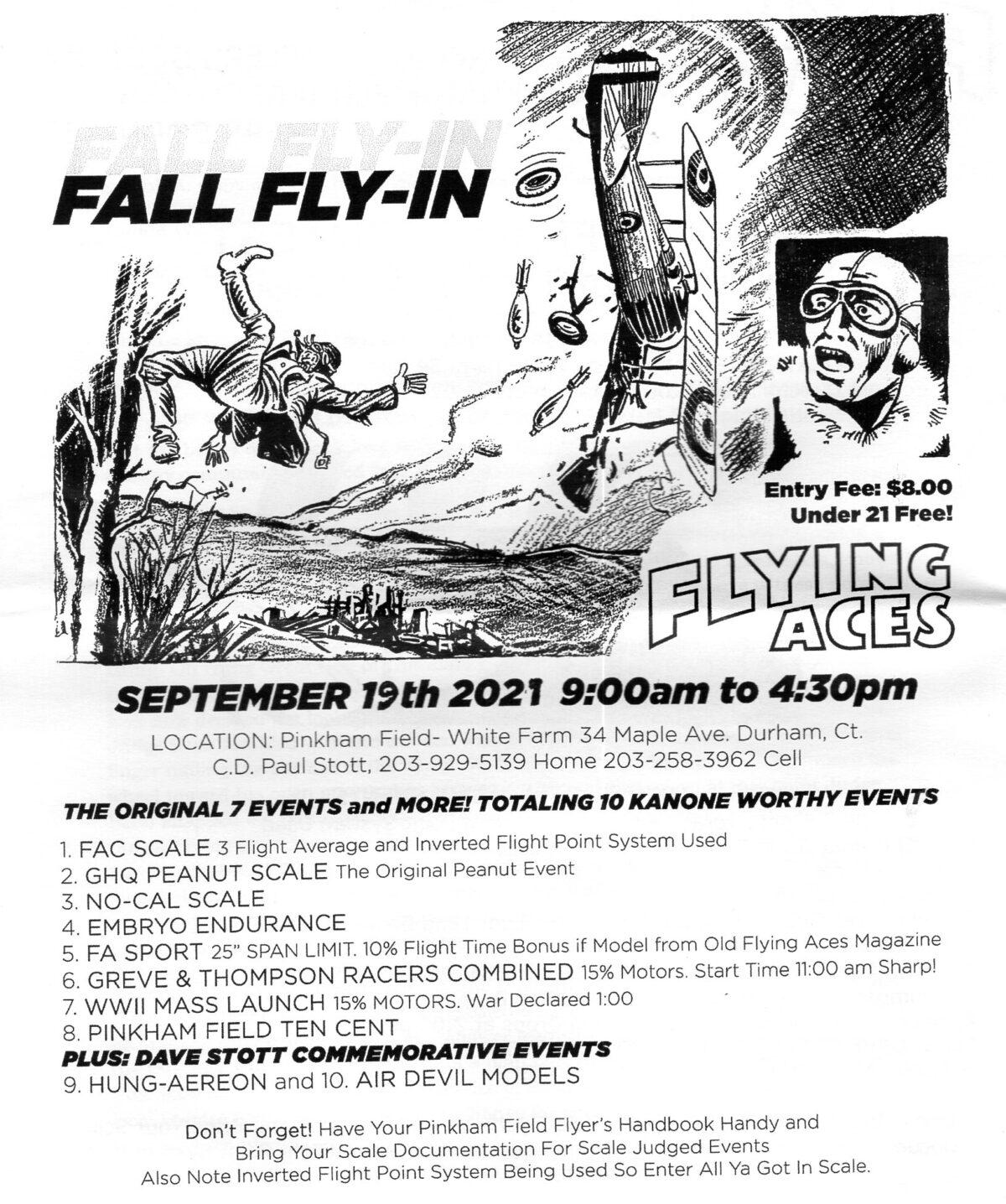 Pinkham Field Fall Fly-In, Durham CT Sunday 9/19